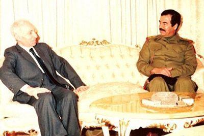 Saddam Hüseyin Baas Partisi Kurucusu Michel Eflak ile...